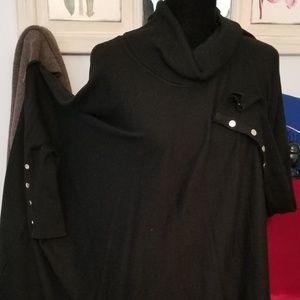 ALFANI 3X COWEL NECK PULL OVER PONCHO